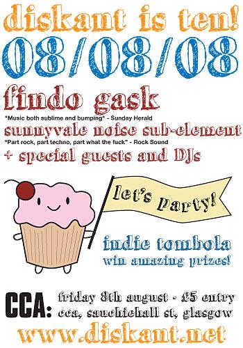 diskant 080808 gig poster